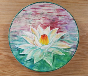 Geneva Lotus Flower Plate