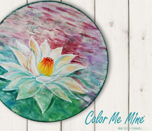 Geneva Lotus Flower Plate