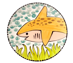 Geneva Happy Shark Plate