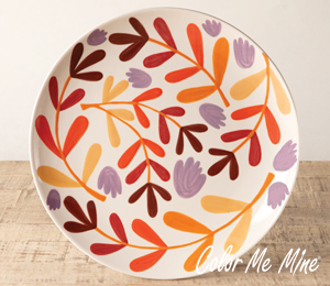 Geneva Fall Floral Charger