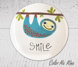 Geneva Sloth Smile Plate