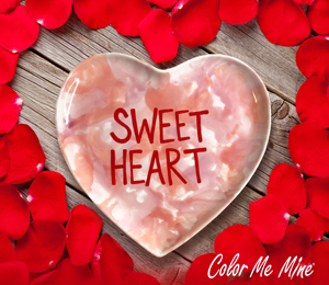 Geneva Candy Heart Plate
